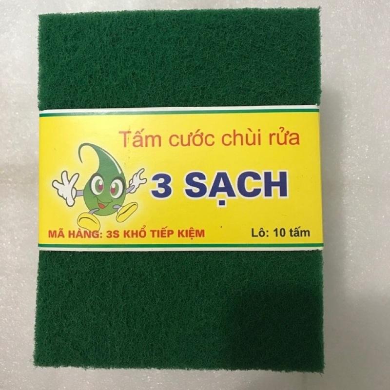 Combo 10 miếng cước XANH rửa chén lớn (13x15cm)