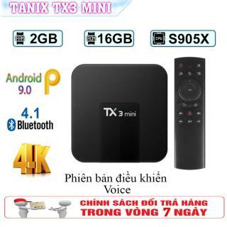 Android Tivi Box Tanix TX3 Mini - Ram 2GB, Rom 16GB, Android 9.0 - Bluetooth 4.0 ( Giá Hủy Diệt ) thumbnail