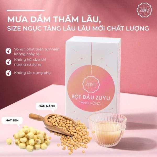 Bột đậu ZuYu Tăng vòng 1+Tặng tinh dầu massage