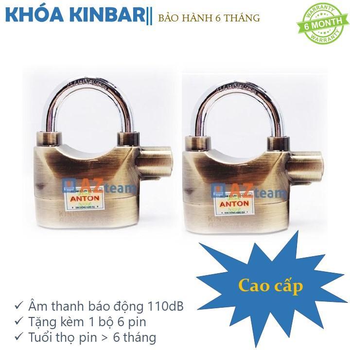 Bộ 2 khóa báo động chống trộm Kinbar cao cấp (Vàng)