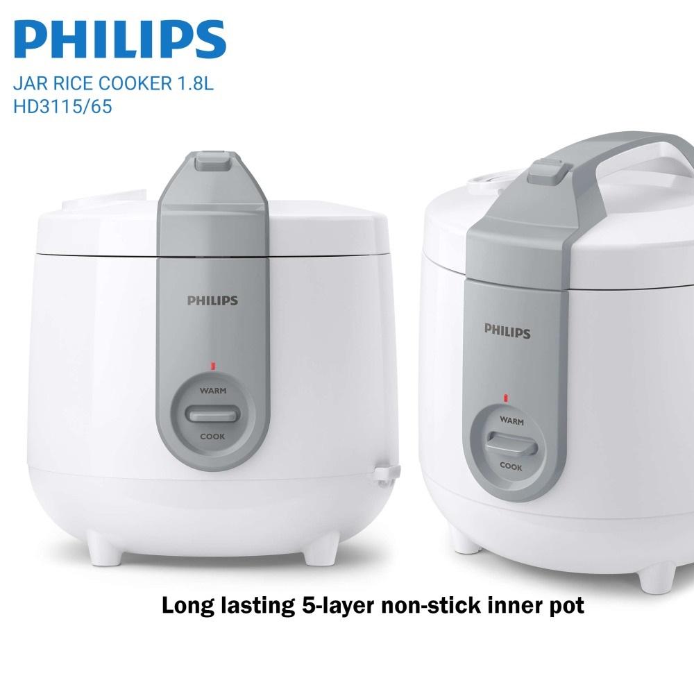 Nồi Cơm Điện Philips HD3115/66 1.8 Lít, Bảo Hành 2 Năm Toàn Cầu Ưu Đãi Bất Ngờ