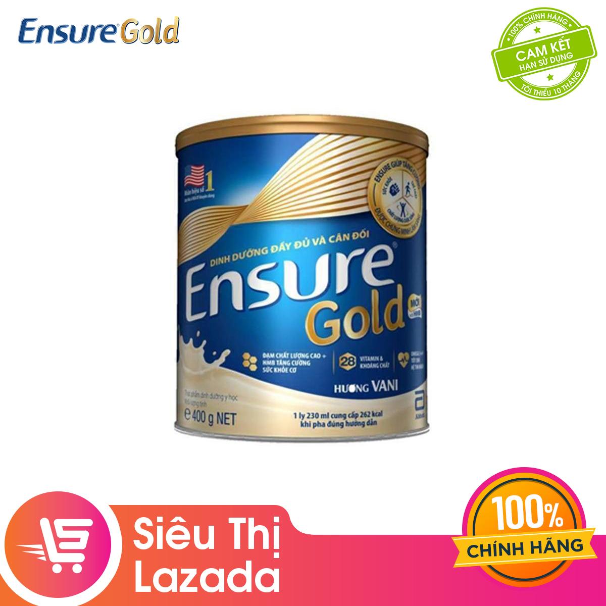 Giá Tiết Kiệm Để Sở Hữu Ngay [MUA 2 GIẢM 20K] Lon Sữa Bột Ensure Gold Hương Vani 400g