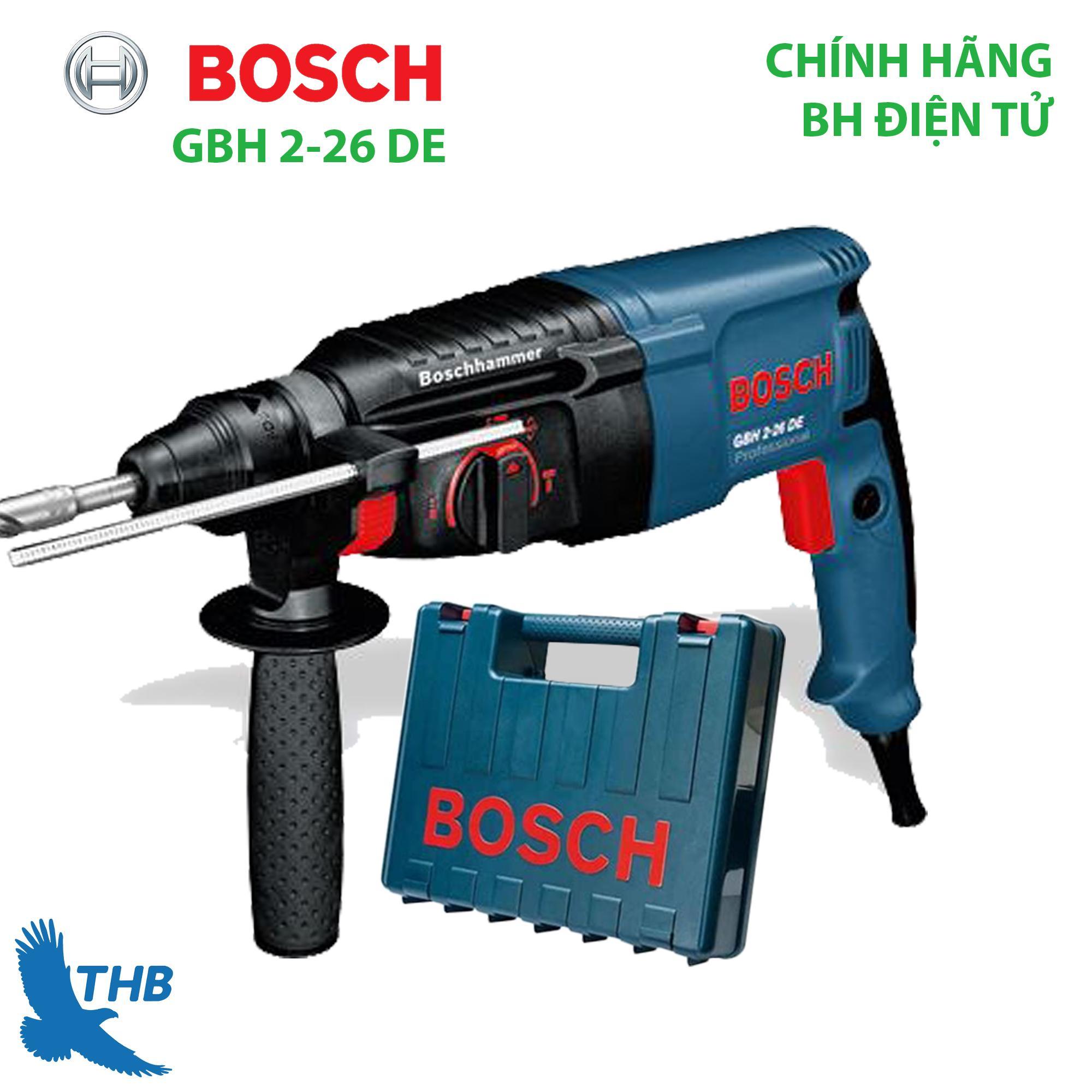 Máy khoan bê tông Máy khoan búa Bosch GBH 2-26 DE Công suất 800W Bảo hành điện tử 12 tháng