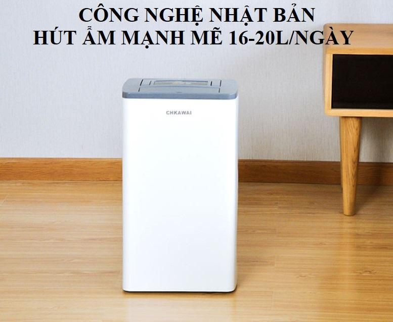 Bảng giá Máy hút ẩm công suất lớn 16L CHKAWAI công nghệ Nhật Bản làm giảm độ ẩm tới 40%- Hút ẩm khử khuẩn mạnh mẽ hiệu quả cao- Bảo hành 1 năm Điện máy Pico