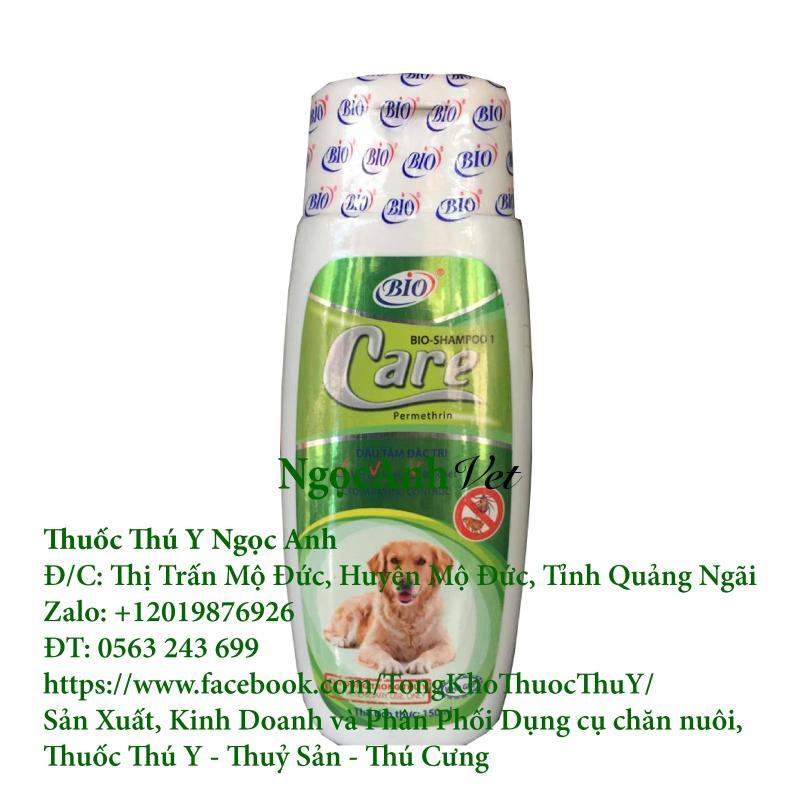 Sữa tắm sạch ve ghẻ, bọ chét chó mèo - Bio Shampoo Care 150ml