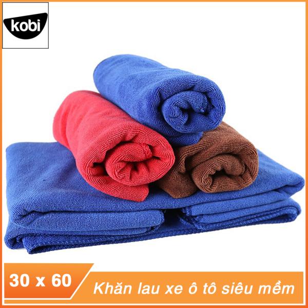 Combo 5 khăn lau xe ô tô, khăn lau đa năng mềm mịn thấm hút nước tốt chuyên dụng lau rửa xe hơi ô tô 3M kích thước 30x60cm loại dầy dặn
