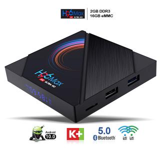 Tivi box, android tv box, box tivi android Ram 2G 4G, bộ nhớ 16G 32G, tìm kiếm bằng giọng nói chưa bao gồm remote giọng nói, bluetooth 5.0, băng tần wifi kép, xem phim 4K sắc nét, bảo hành 12 tháng H96MAX thumbnail