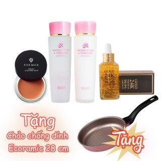[Chính hãng Hàn Quốc] Combo dưỡng da và trang điểm Hàn Quốc 4 món tặng Chảo chống dính Hàn Quốc size 28cm thumbnail