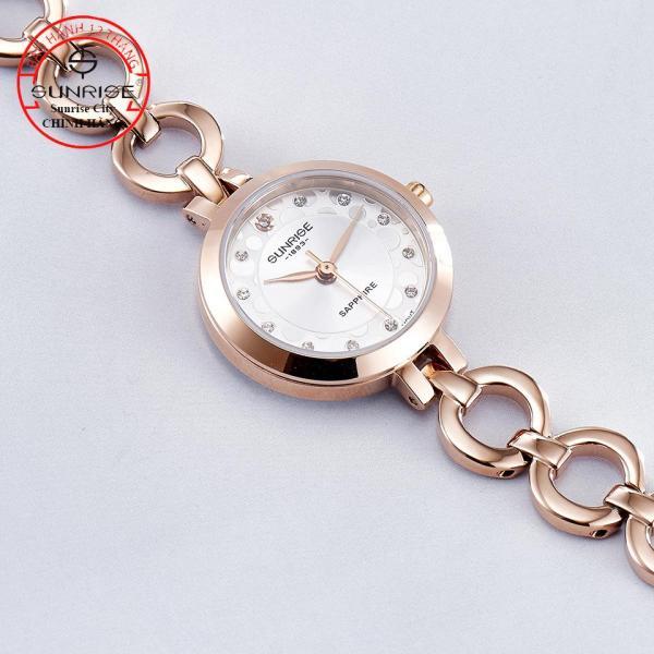 [HCM][Fullbox hãng] Đồng hồ nữ siêu mỏng Sunrise 9964SA đính đá kính Sapphire chống xước chống xước tốt