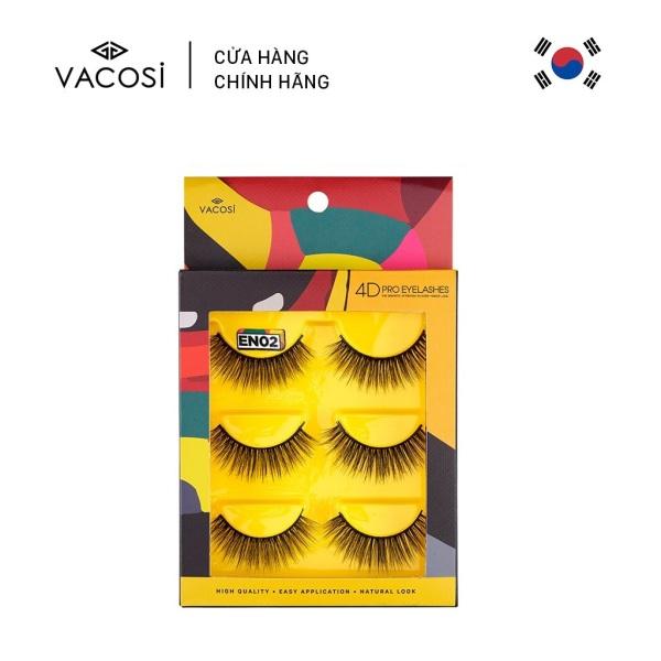 Vacosi Hộp 3 Cặp Lông Mi Giả 4D Pro Eyelash