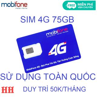 Sim 4G mobifone 75GB duy trì 50k miễn phí vận chuyển thumbnail