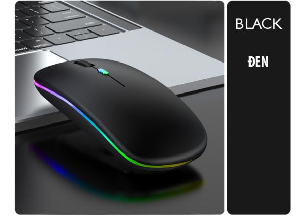 Bảng giá [Bảo hành 1 Năm] Chuột Máy tính laptop không dây cao cấp S108 Pin sạc, có đèn Led nhiều màu sắc, kiểu dáng Apple, không có tiếng âm thanh thích hợp cho dân văn phòng làm việc và chơi game, kết nối 10m, chuột chưa có Bluetooth - SAGOPY Phon