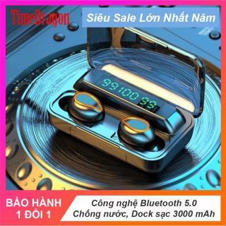 Tai nghe Bluetooth F9 phiên bản mắt sói, tai nghe không giây bản nâng cấp hình dạng mắt sói cực ngầu, đèn led hiển thị, chống nước chống va chạm pin trâu sạc được cho điện thoại thumbnail