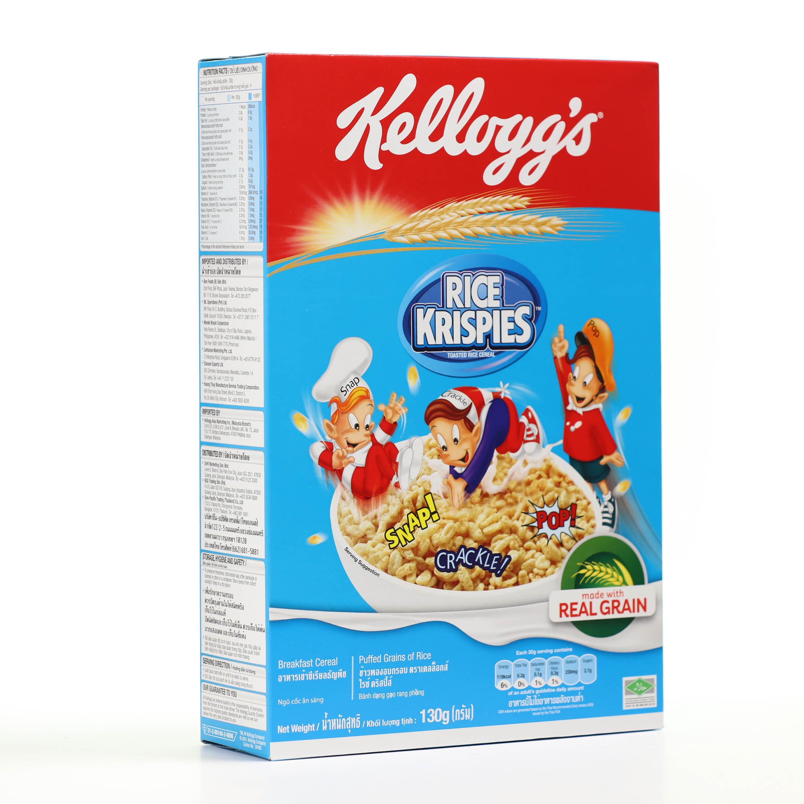 Ngũ cốc dinh dưỡng Kelloggs Rice Krispies hộp 130g