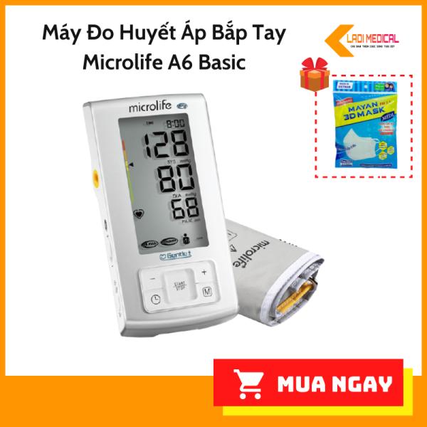 [HCM]Máy Đo Huyết Áp Bắp Tay Microlife A6 Basic (Trắng) bán chạy