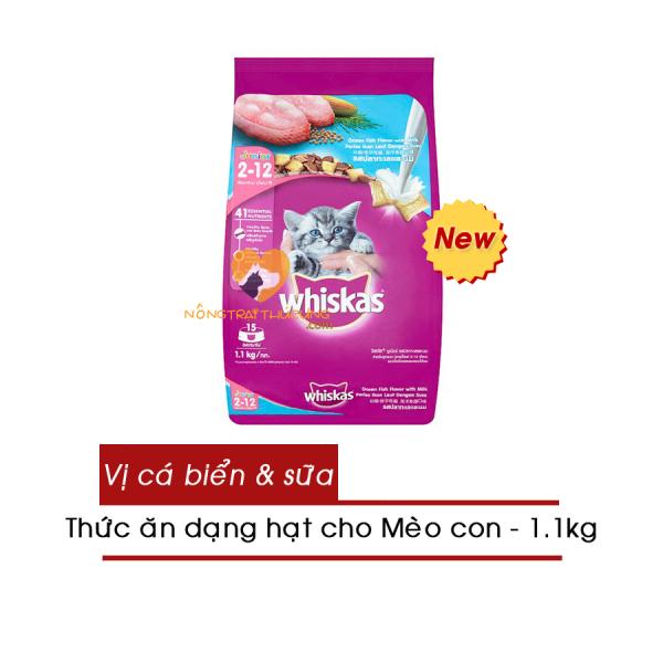 [HCM]Thức Ăn Hạt Whiskas Cho Mèo Con Gói 1.1kg -Vị Cá Biển Và Sữa- Whiskas Junior Ocean Fish- [Nông Trại Thú Cưng]