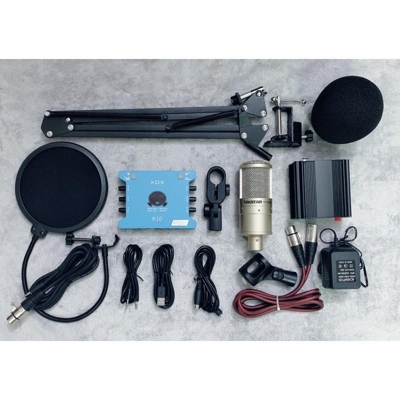 Bộ combo thu âm Mic Takstar PC K200 suondcard k10 bản kỉ niệm 10 âm thanh cực hay và chuẩn