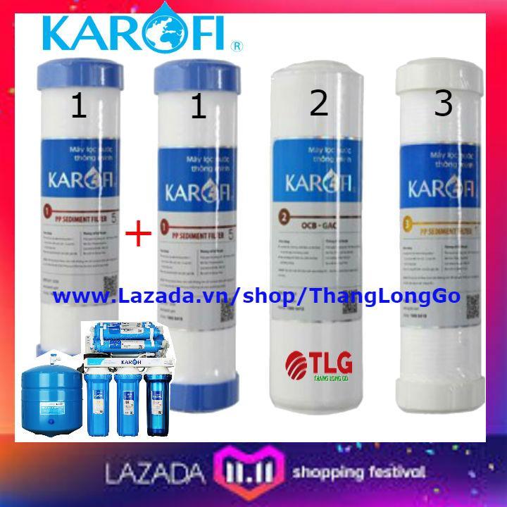 Bảng giá COMBO 4 LÕI LỌC NƯỚC KAROFI SỐ 1-2-3 | GỒM 2 SỐ 1; 1 SỐ 2; 1 SỐ 3 Điện máy Pico