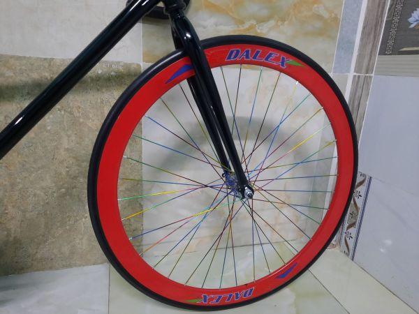 Phân phối Xe đạp Fixed single đỏ đen mới NEW 100% bảo hành 1 năm