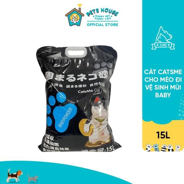 Cát Catsme cho mèo đi vệ sinh mùi Baby 15L