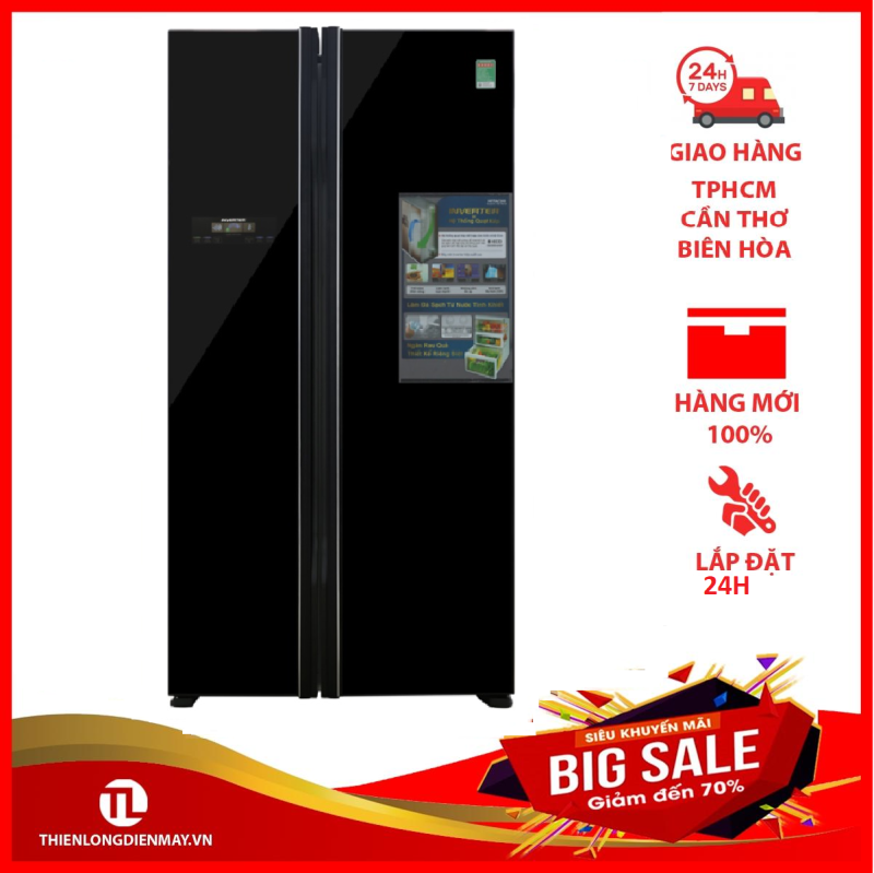 Tủ lạnh Hitachi Inverter 605 lít R-FS800PGV2 GBK