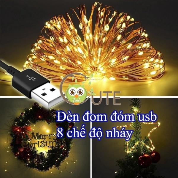 Bảng giá Đèn Nháy USB 8 Chế Độ Chống Giật, Đèn Chớp Đom Đóm 10m/5m 100 bóng/50 bóng - Fairy light trang trí tiệc, trang trí sự kiện