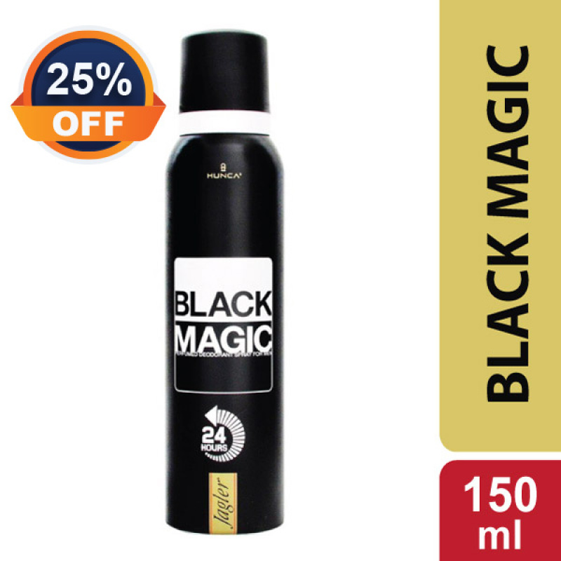 Xịt Khử Mùi Nam Nước Hoa Nam Tính, Cổ Điển, Bí Ẩn JAGLER BLACK MAGIC HUNCA CARE 150ml cao cấp