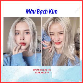 Thuốc nhuộm tóc màu Bạch kim dành cho cả nam và nữ ( cần nâng tone) thumbnail