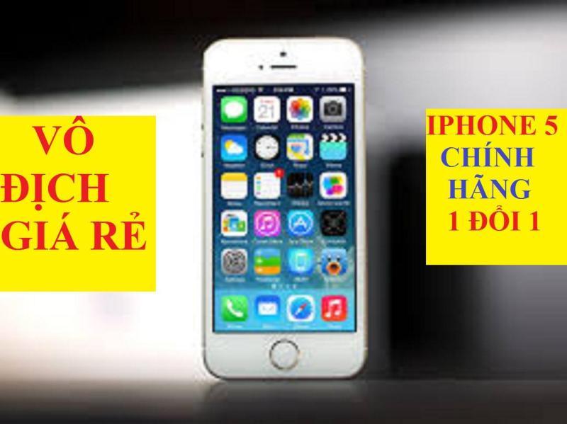Điện thoại IPHONE5 - 32G/16GB tặng kèm sạc - Phiên bản quốc tế - Bao đổi trả - Bảo hành 1 Đổi 1