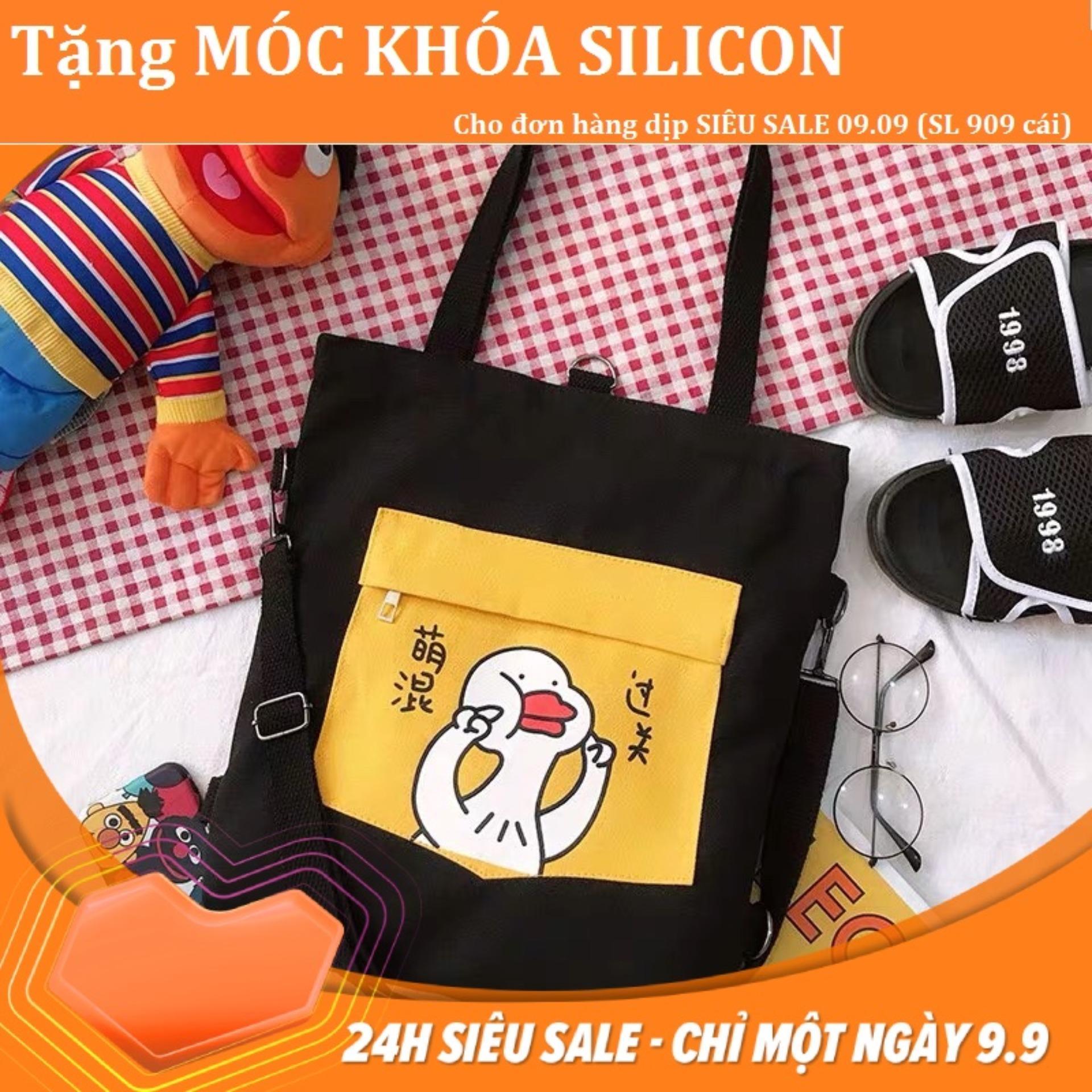 Túi tote canvas đeo vai, đeo chéo thời trang nam, nữ Hàn Quốc -TT24 - CHU NGONG- The Hills