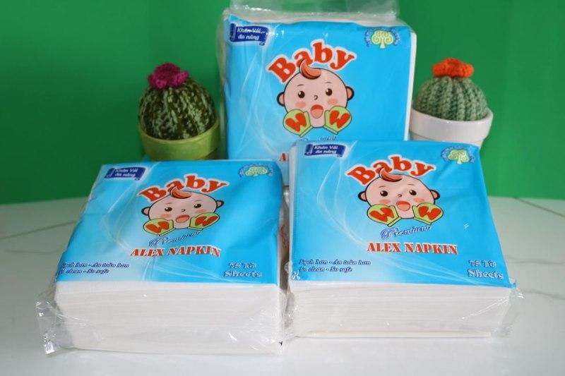 Khăn vải lau đa năng Baby Wow nhập khẩu