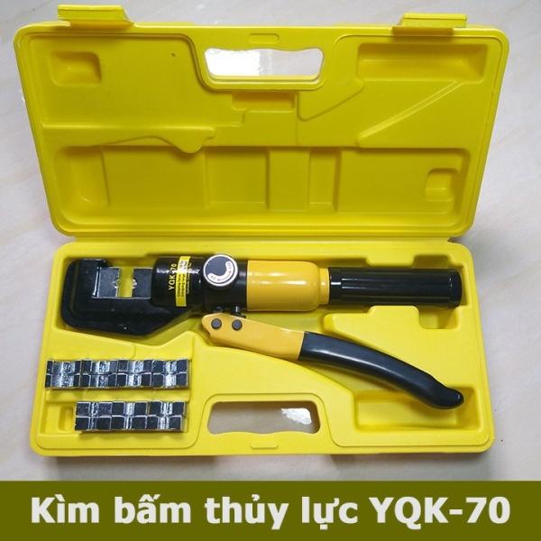 Kìm bấm cos thủy lực YQK-70 kìm ép cốt thủy lực YQK70 ẹp trặt đầu cos và dây cap bằng hệ thống thủy lực