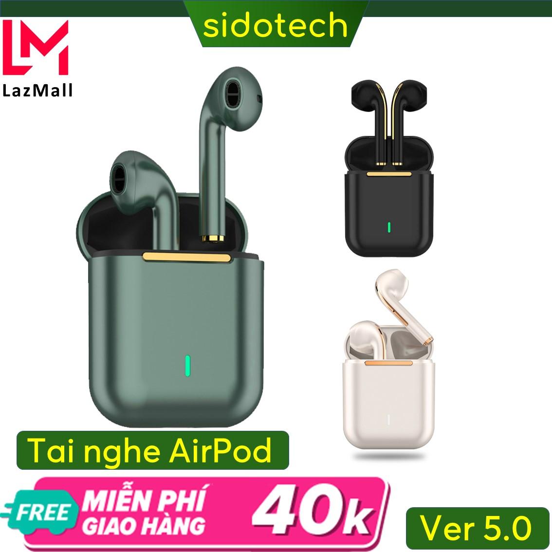Tai nghe bluetooth khong day Airpods Sidotech bản nâng cấp của tai nghe bluetooth I11 I12 I7S I9S I27 Airpods 2 nâng cấp pin 3h kết nối độc lập 2 tai đổi tên định vị hiện Popup dùng cho Apple Samsung Oppo Huawei Xiaomi Sidotech