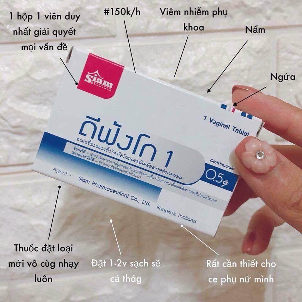 Viên diệt khuẩn Siam Defungo 1 Thái Lan cho phụ nữ (hộp 1 viên) nhập khẩu