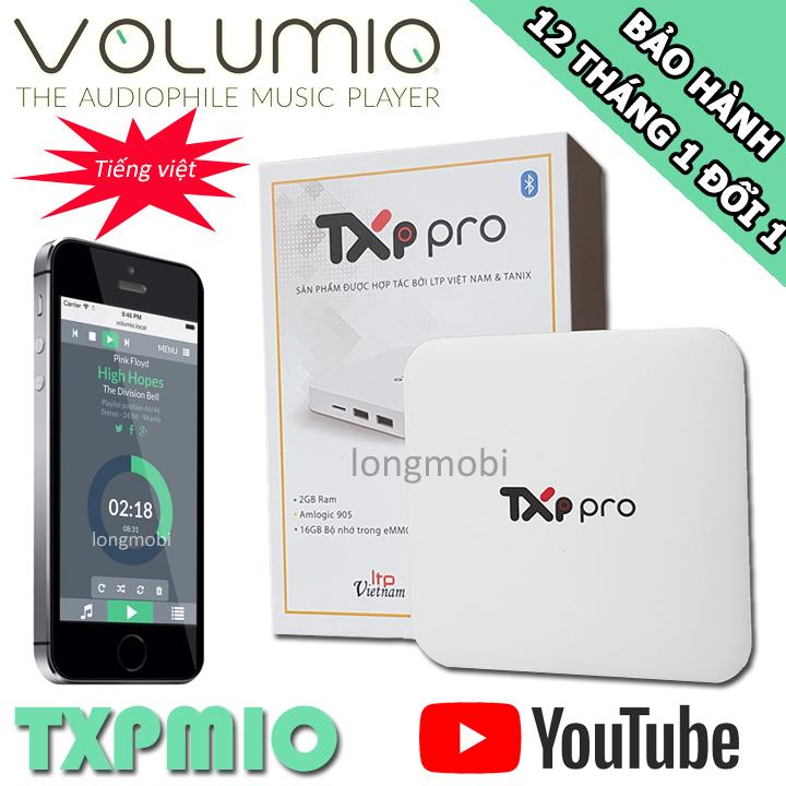 TXPmio - Music Server Volumio Tiếng Việt Hiệu Năng Cao Giá Tốt Không Nên Bỏ Qua