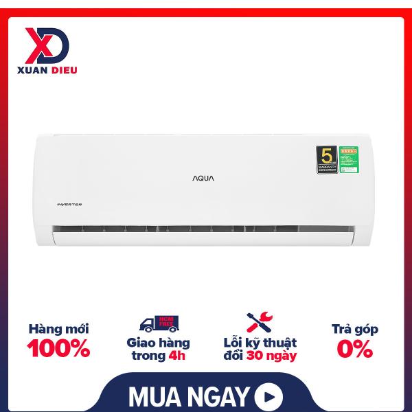 Bảng giá Máy lạnh Aqua Inverter 2 HP AQA-KCRV18TK Mới 2021  Hoạt động siêu êm ,Có tự điều chỉnh nhiệt độ ,Thổi gió dễ chịu (cho trẻ em, người già) ,Hẹn giờ bật tắt máy ,Làm lạnh nhanh tức thì ,Tự khởi động lại khi có điện