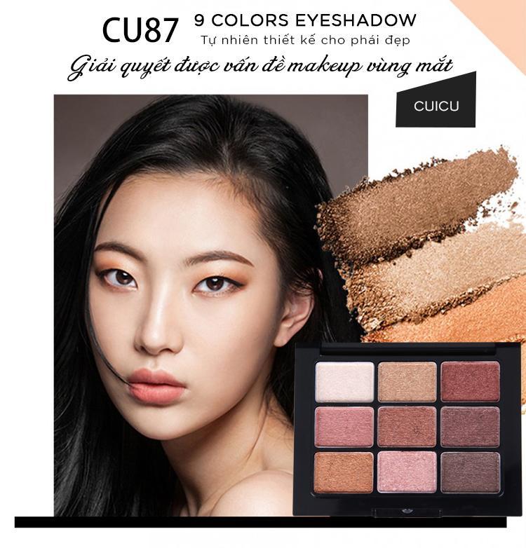 Bảng phấn mắt 9 Colors Eyeshadow Tự Nhiên Thiết Kế Cho Phái Đẹp