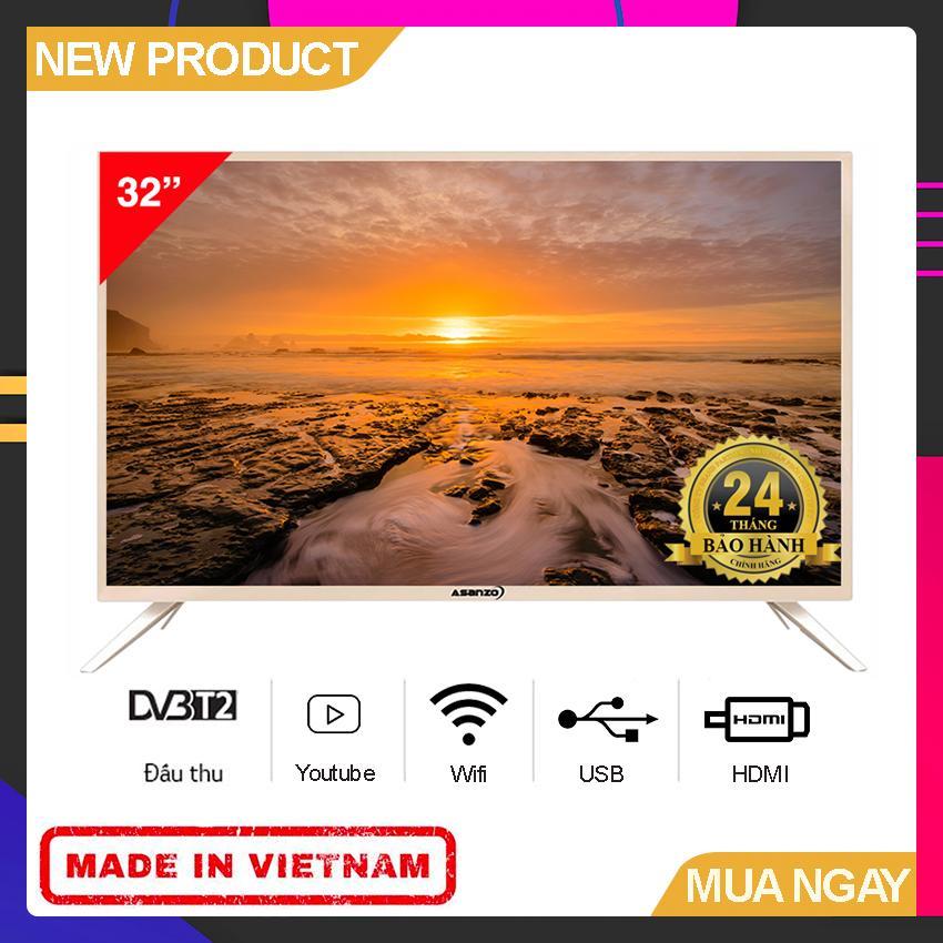 Bảng giá Smart TV Asanzo 32 inch HD - Model 32AS100 (Đen) HD Ready, Tích hợp DVB-T2, Wifi - Bảo Hành 2 Năm