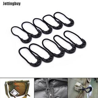 Jettingbuy 10 Cái EDC Đen Zip Zipper Kéo Dây Thừng Cho Quần Áo Du Lịch Ngoài Trời Ba Lô Màu Đen thumbnail