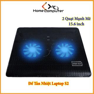 Đế Tản Nhiệt - Quạt Tản Nhiệt Laptop S2 - 15.6 inch - 2 Quạt Mạnh Mẽ, Thiết Kế Đẹp, Bền, Chắc thumbnail