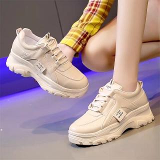 Giày nữ kiểu hàn quốc Rong Ye chất da đẹp siêu hot mới nhất 2020 HAPU ( kem , trắng ) thumbnail