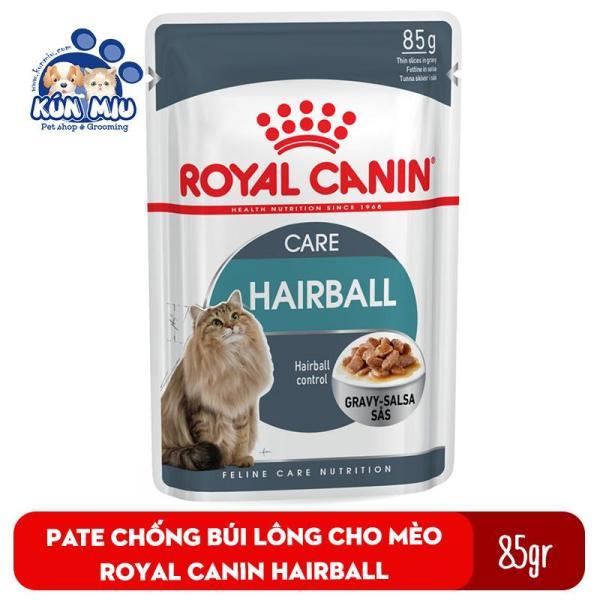 Thức ăn Pate cho mèo tác dụng chống búi lông Royal Canin Hairball 85gr