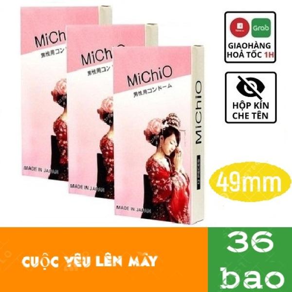 [COMBO]BỘ 3 HỘP Bao Cao Su MICHIO NHẬT BẢN,Gân và siêu mỏng, hương chuối nhẹ nhàng,Hàng xịn nên dùng TH STORE 01. cao cấp