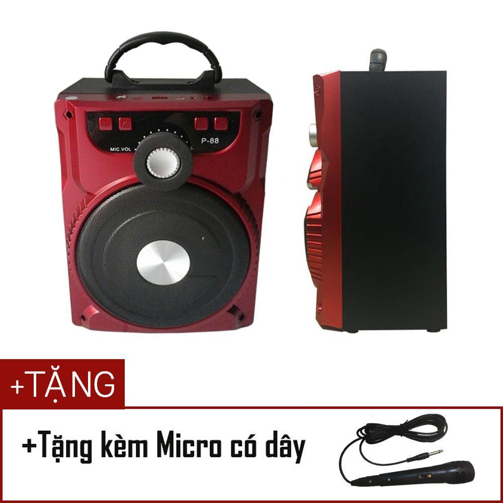 Loa Bluetooth Karaoke Xách Tay Di Động P88 (Tặng Kèm Mic)-Màu Ngẫu Nhiên