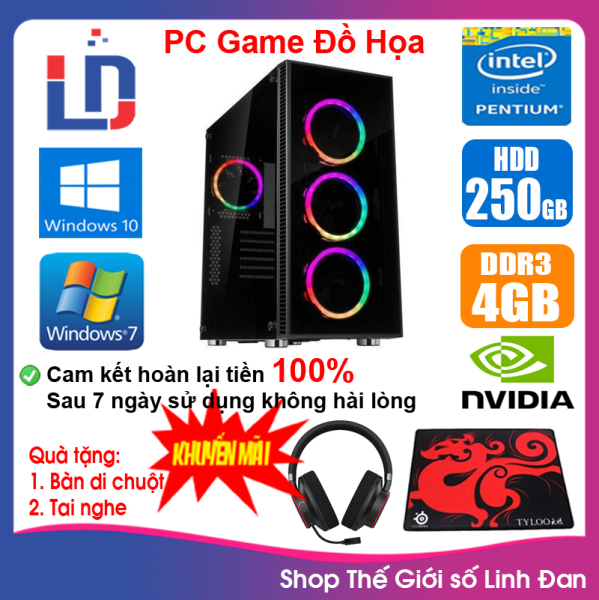 Bảng giá Case máy tính Game LED CPU Pentium G2010 / i3-3220 / Ram 4GB-8GB / HDD 250GB - SSD 120GB / VGA 1 - 2GB chơi PUBG mobile, LOL, Fifa3, Cs Go, AOE ... [QÙA TẶNG: Tai nghe + lót chuột] - LLD [ Shop Thế Giới Số Linh Đan ] Phong Vũ