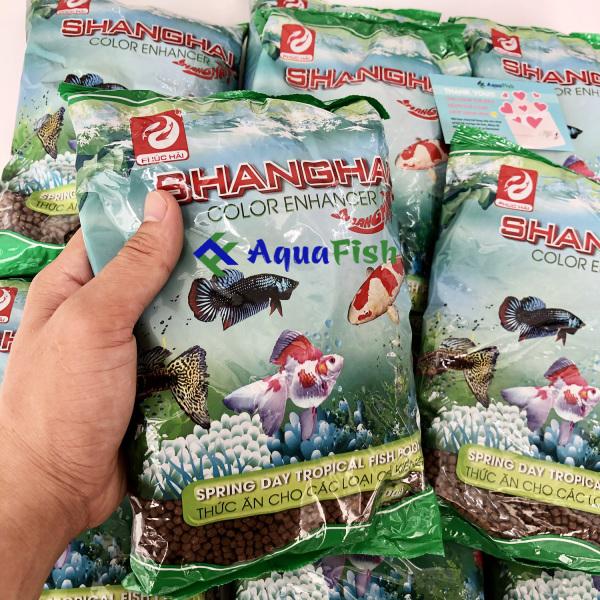 Thức Ăn Cho Cá Cảnh ShangHai Gói 500g (Thức ăn cho cá dạng viên, phù hợp với mọi loại cá)