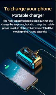 Tai Nghe Bluetooth Không Dây F95 Nhét Tai Pin 3500 maH Micro HD, Chống Nước - Tai nghe bluetooth pin trâu - Tai nghe nhét tai không dây - Tai nghe không dây pin trâu 6