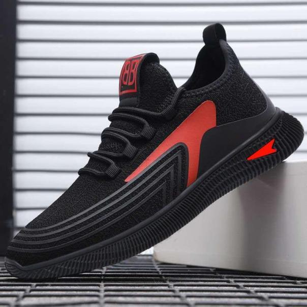 (Có 2 Màu) Giày sneaker thể thao nam - BB đen viền đỏ thoáng khí - B end T Shop giá rẻ
