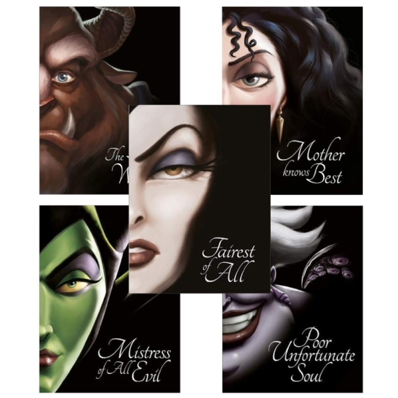 Fahasa - Combo Sách Hay Villain Tales: Little Mermaid - Snow White - Sleeping Beauty - Tangled - Beauty And The Beast