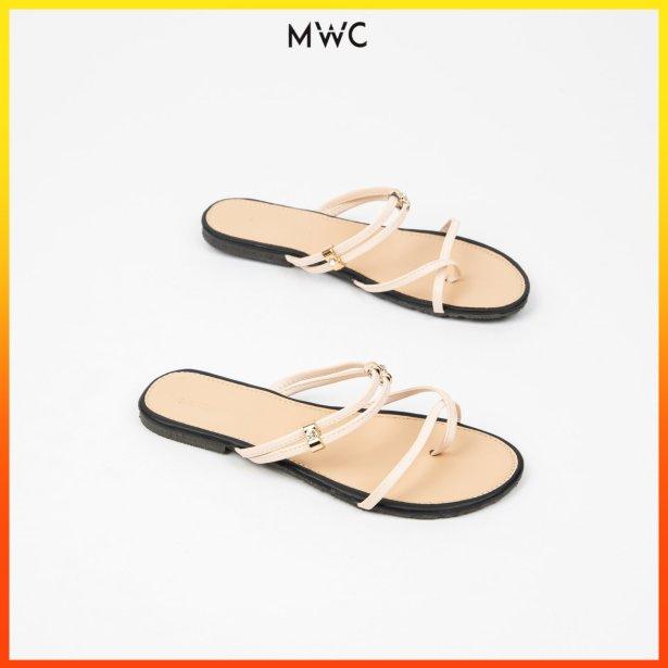 Giày sandal nữ sỏ ngón quai mảnh MWC NUSD- 2728 giá rẻ